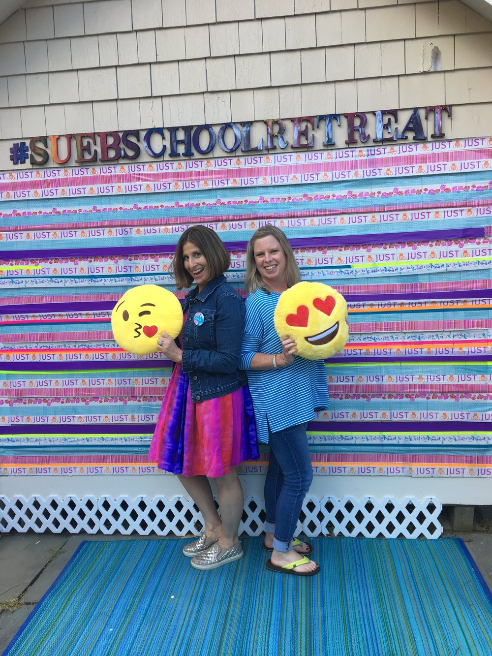 Having emoji fun with Sue B!