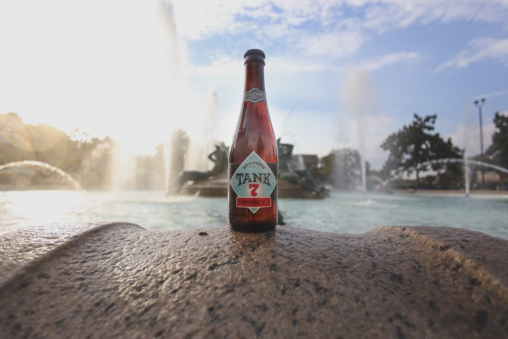 Philadelphia, Pennsylvania | Logan Square (Tank 7 perches on the rim of the Swan Memorial Fountain )