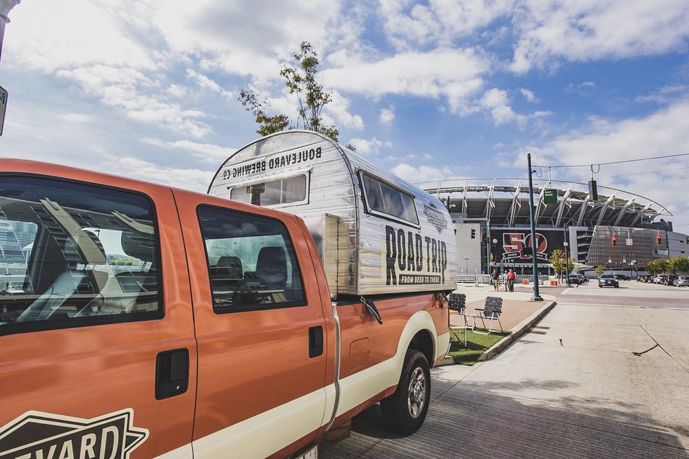 The BLVDRoadTrip camped out right next to the Paul Brown Stadium, home of the Cincinnati Bengals near Pies & Pints | Cincinnati, Ohio