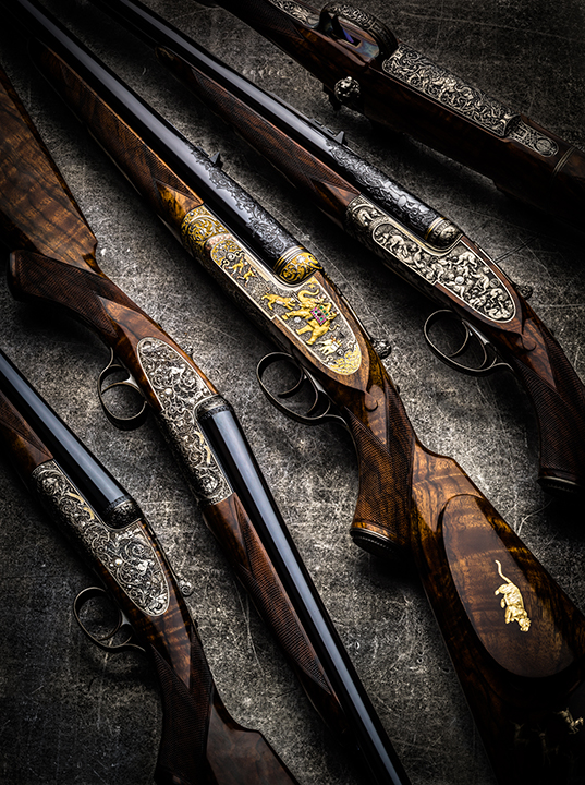 "The Explora | May 2015     ""I was asked recently by Shooting Sportsman for some photos of Paul's work on Westley Richards guns and rifles over the past few years, and took this group of all the guns he has engraved for us...""  read more"