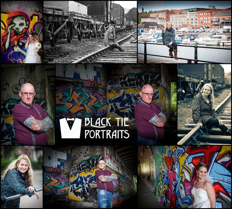 Urban Portrait Photography Collage Bristol | Black Tie Portraits