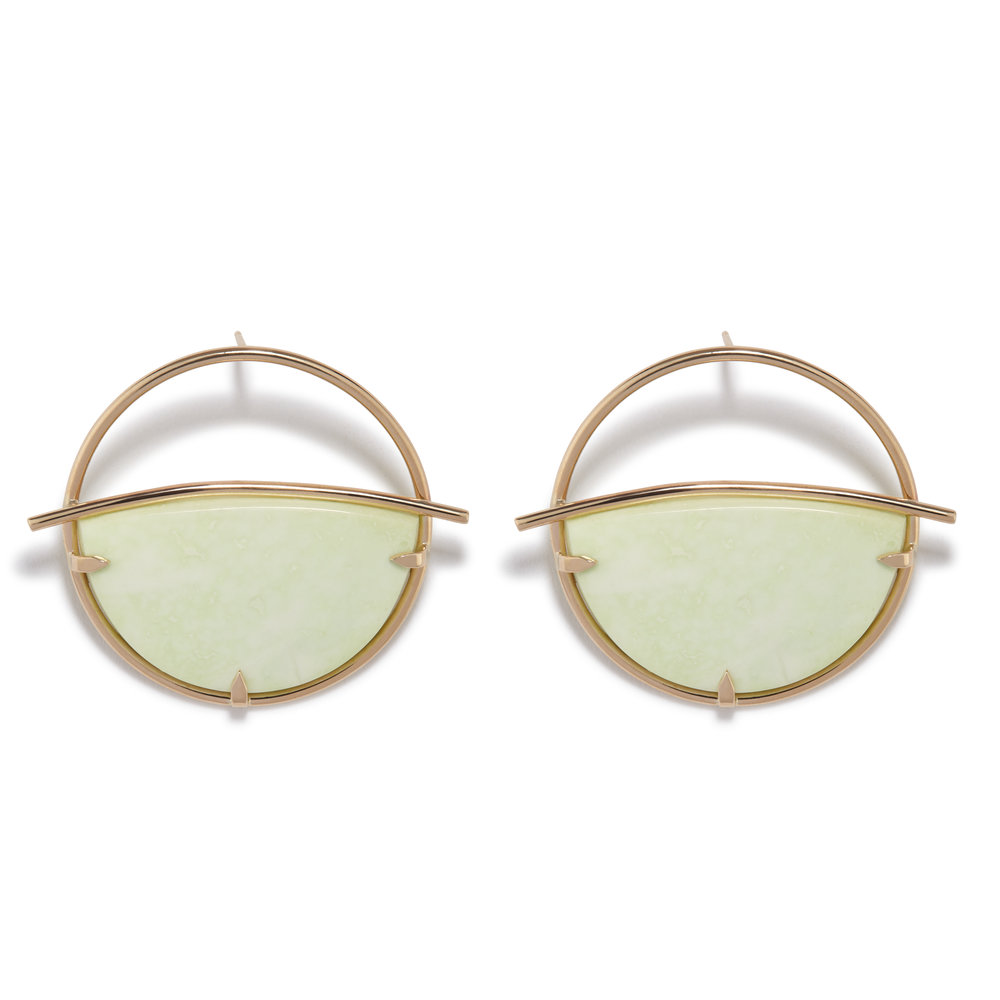 Circe Earrings - Lemon Chrysoprase