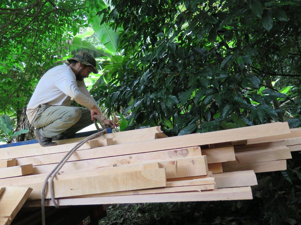 Unloading the Lumber