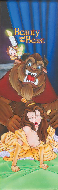 Beauty and the Beast / acrylic and airbrush on illustration board / 1994 / sold
