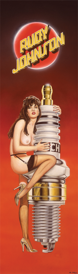 Sparkplug Girl / pencil, acrylic, and airbrush on illustration board / 1992 / traded