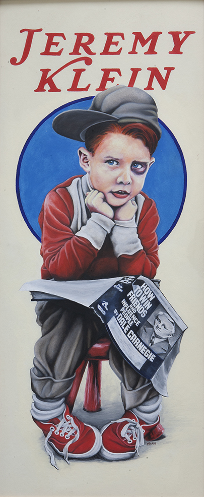 Black Eye Kid / oil and gesso on illustration board / 1992 / sold