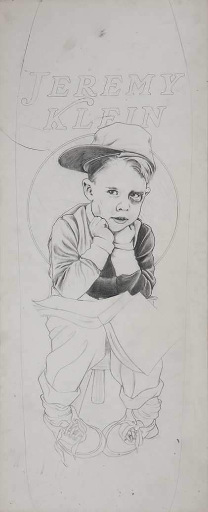 Black Eye Kid / pencil on illustration board / 1992 / sold