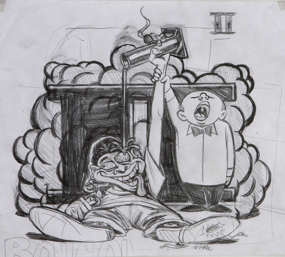 Bong Olympics 2 / pencil on paper / 1996