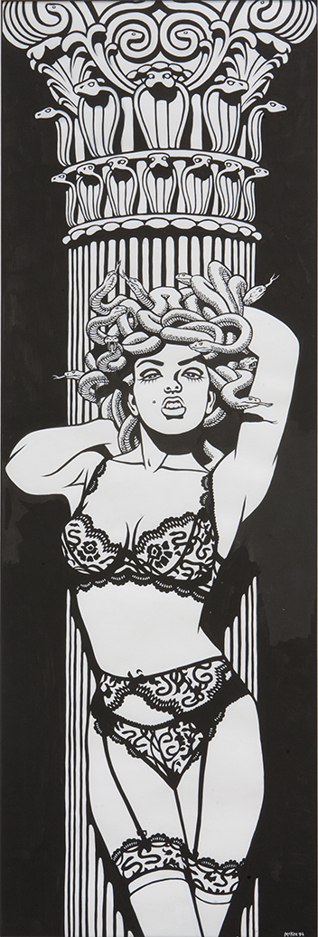 Medusa / ink on paper / 1994