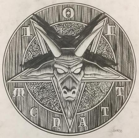 Pentagram / pencil on paper / 1994 / sold