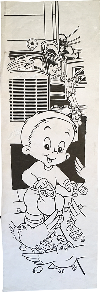 Casper the Friendly Boy / ink and goauche on paper / 1995