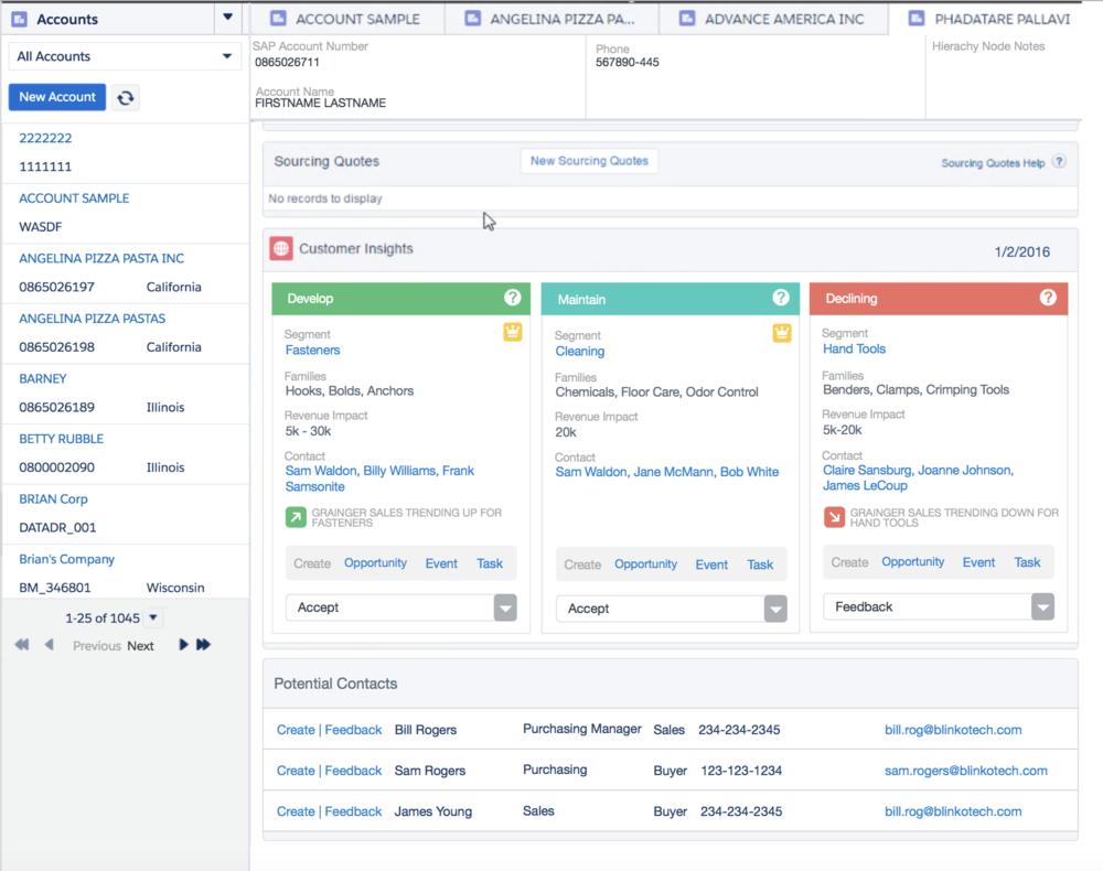 Inside Sales Agent Insights Dashboard (Salesforce Lightning)