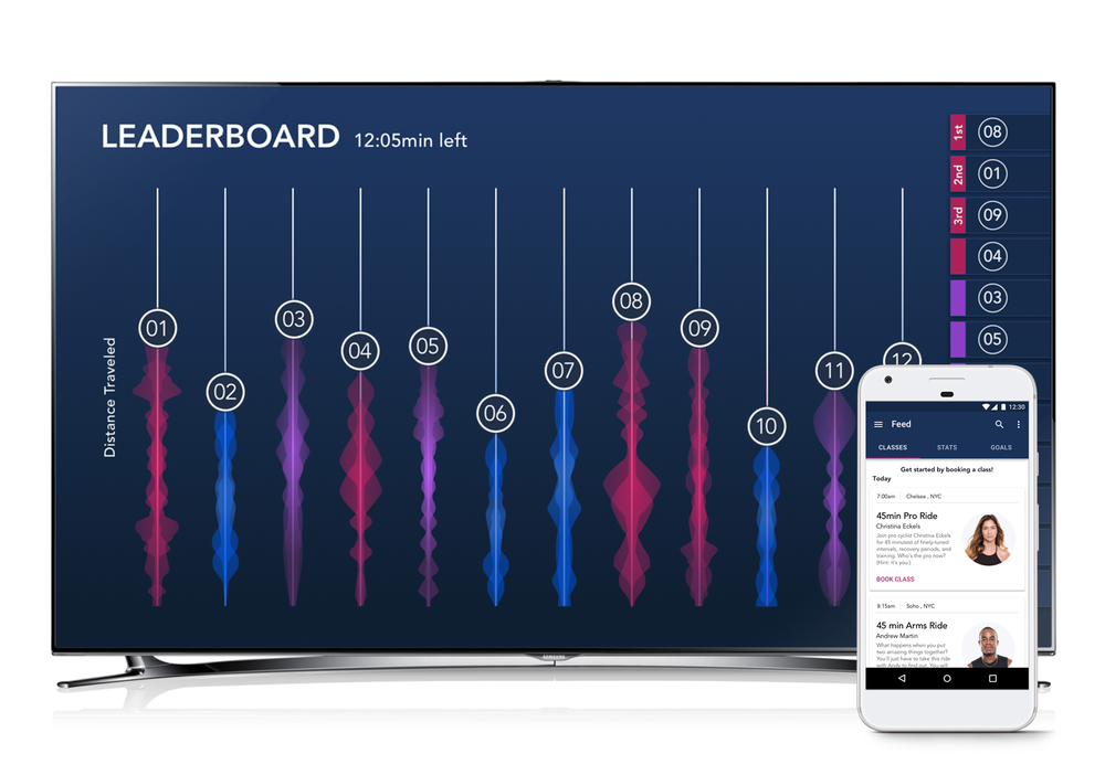 Exedra - Fitness class that encourages friendly competition through a Leaderboard Display and tracks the user's performance through a smartphone app.View Project