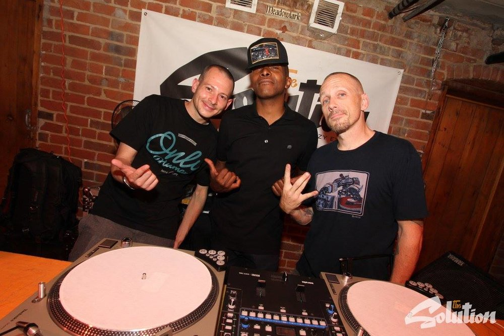 DJ Low Key (from left), Kouri Alston and DJ Revolution.