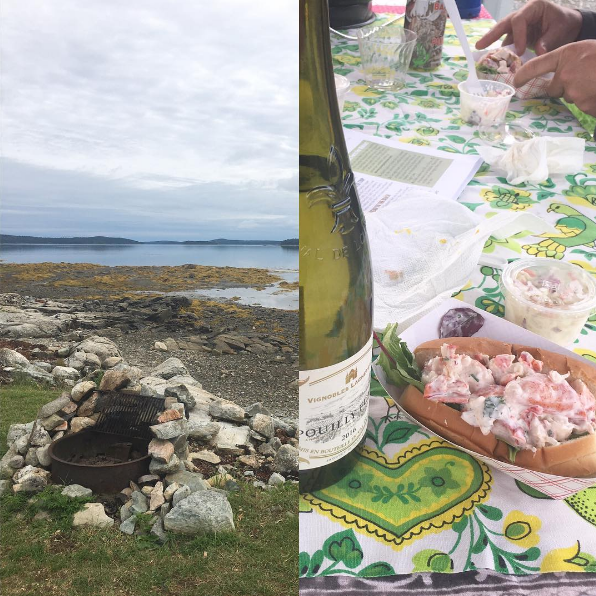Camping, beauty, wine & lobster