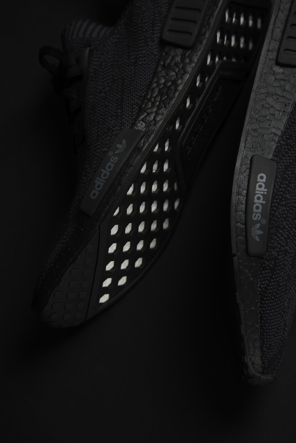 2726e62f1 adidas NMD R1 PK  PITCH BLACK  — STRIPE CENTER