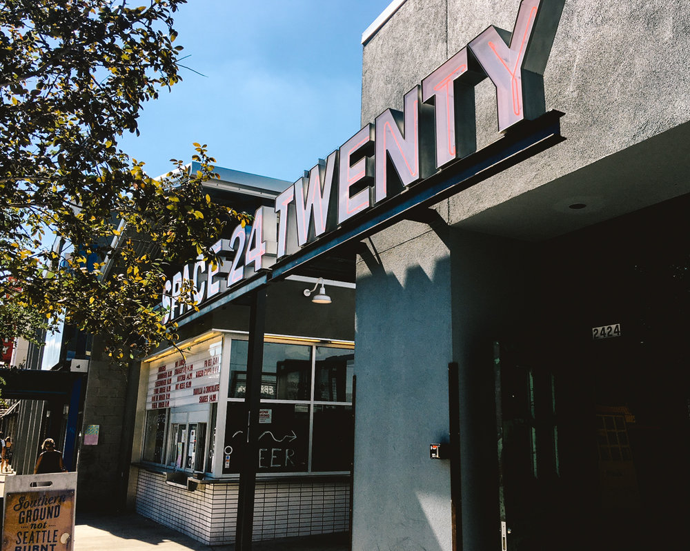 To get to Lucky Lab, you must go through the Space 24 Twenty entrance.