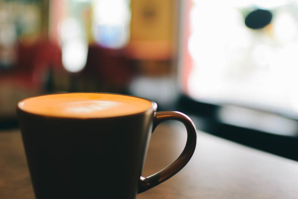 A cappuccino made at Irie Bean.