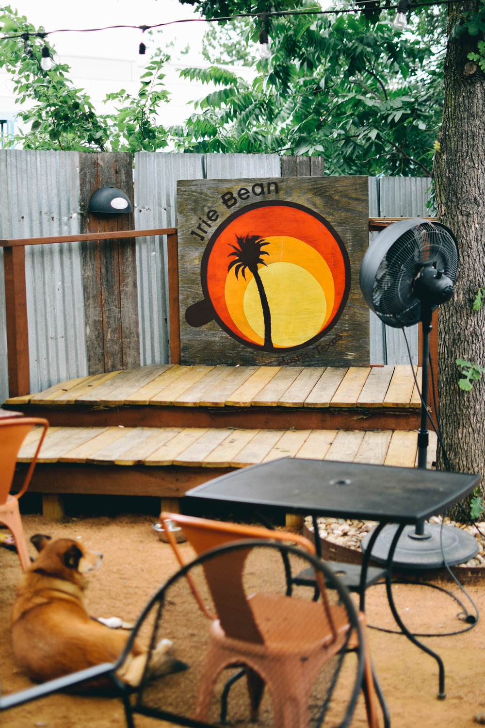 Irie Bean's outdoor stage.