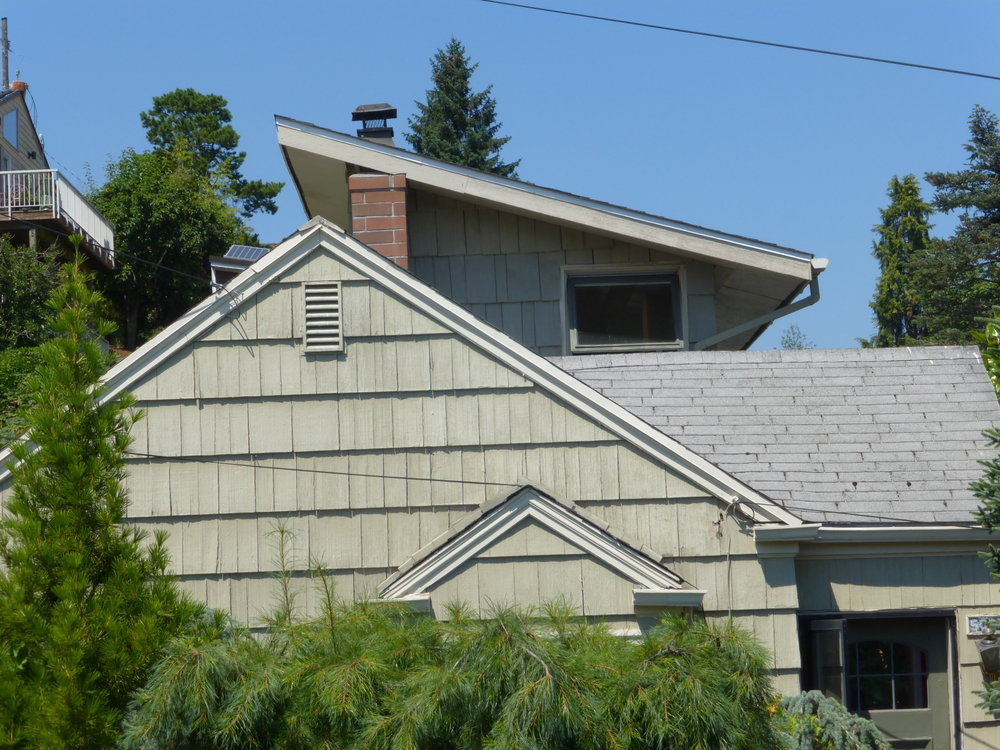 Quirky roofline belies a strange and quirky house.JPG