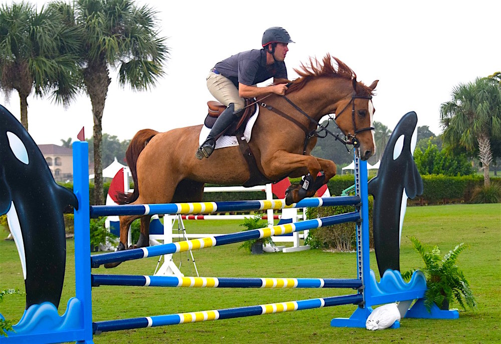 Andrew Kocher and Red Lady (Photo courtesy of The Ridge at Wellington)