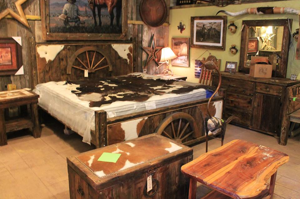 6 Piece Custom Cowhide Bedroom Set — Frontier Rustic Store