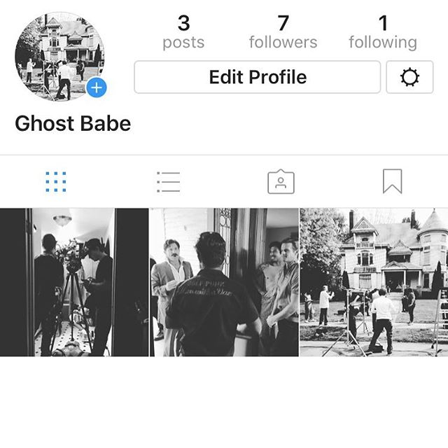 "IG FAM! I AM ACTING IN A RAD FILM CALLED ""Ghost Babe"" !!!! Come follow the action and support it by following us @ghostbabemovie"