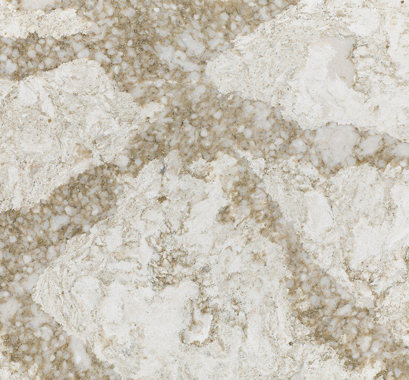 BEAUMONT    Soft swirls of warm cream and beige are accented with shimmering gold and crystal-white veining stimulates a gracious and welcoming effect.