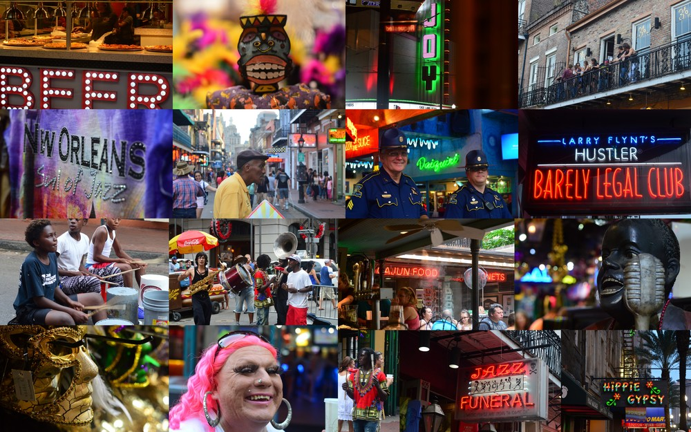 And now, I leave you with a collage of images of Bourbon Street.  Creatively yours,  Kareen