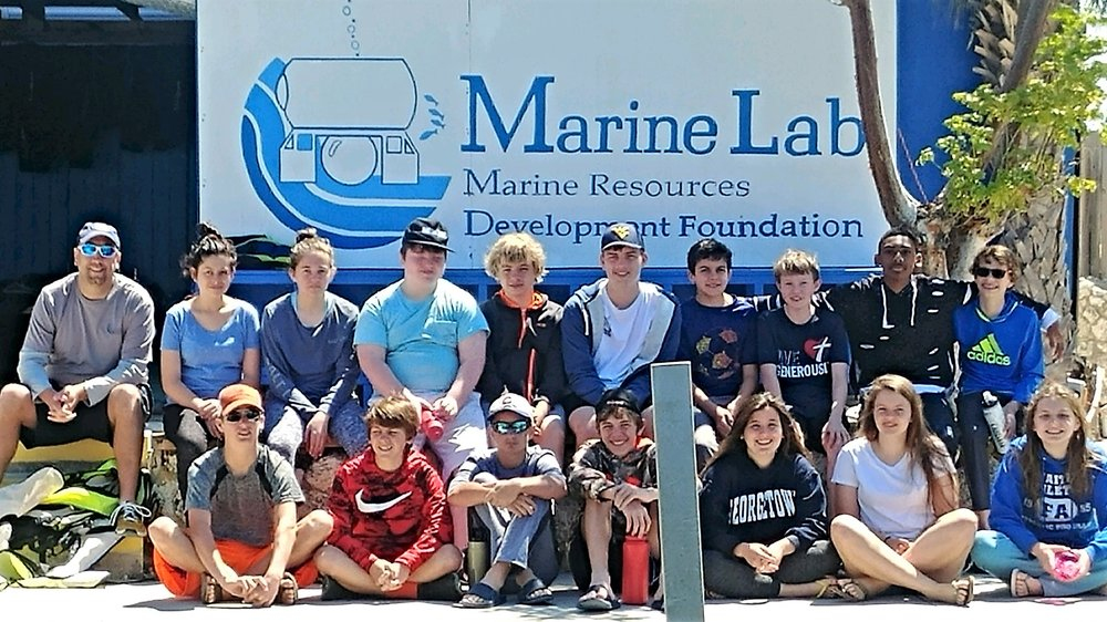 It's a great day at Marine Lab!