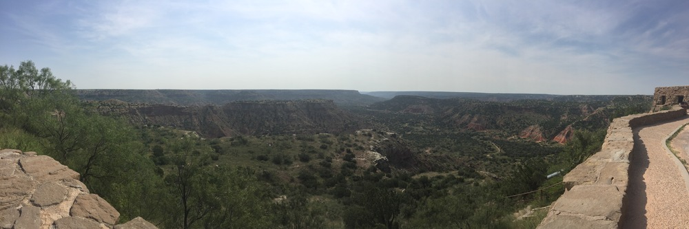 From the top of the canyon.