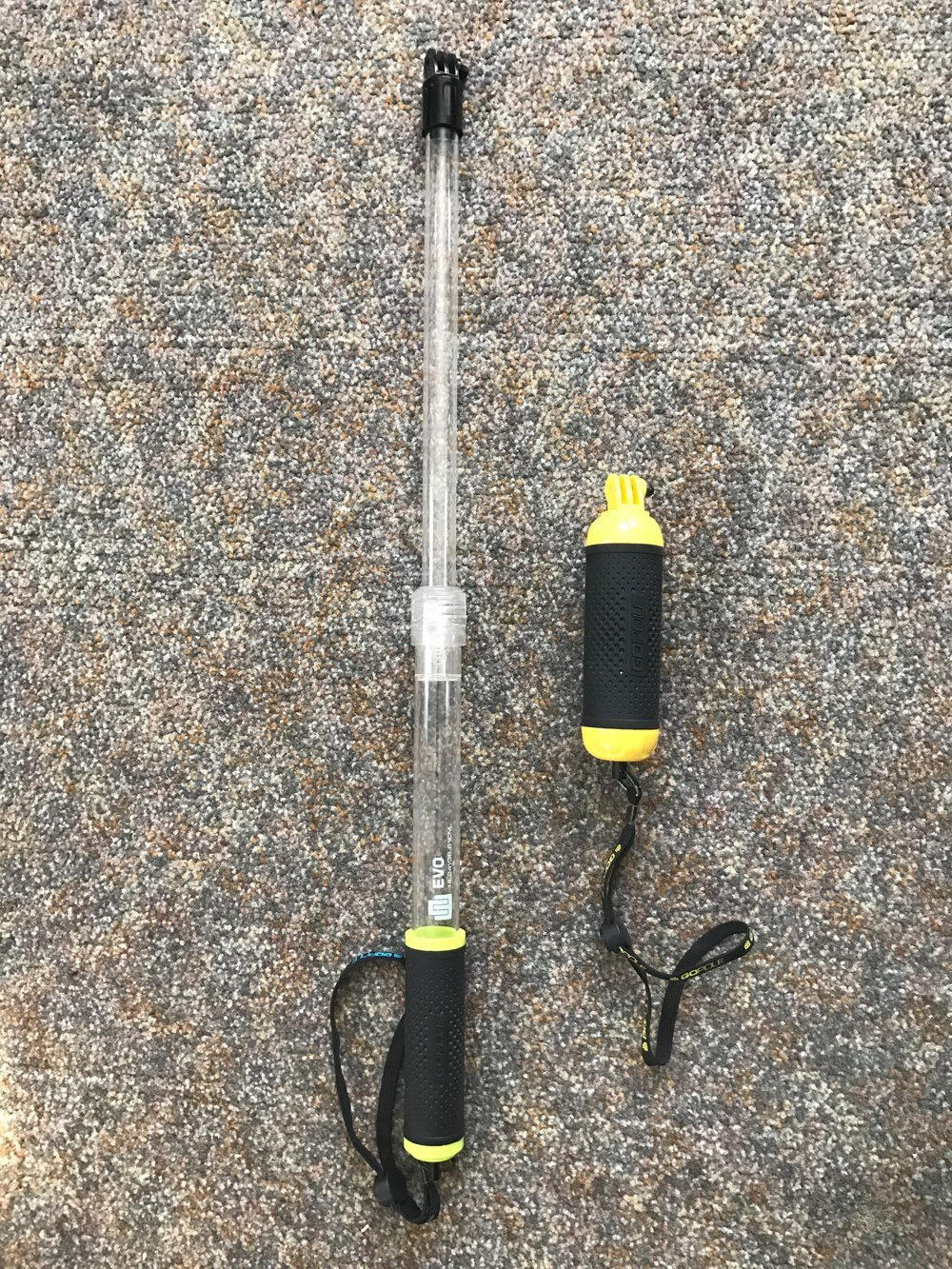 Shown: GoPole floating pole and hand grip.