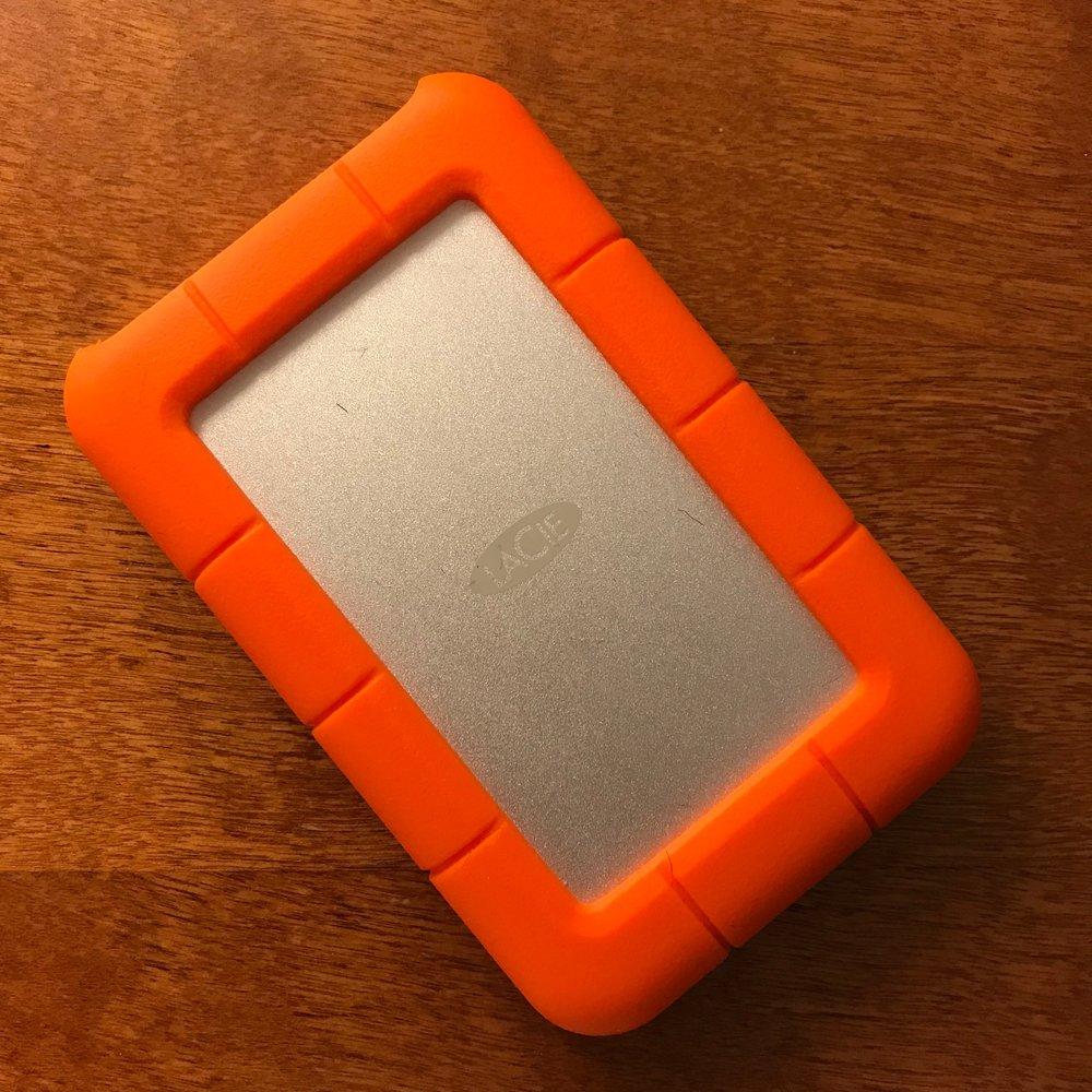 LaCie 2TB External Hard Drive (USB-C)