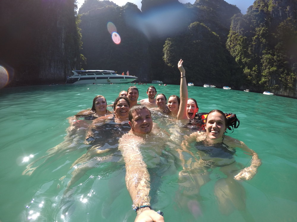 Part of the group from my trip to Thailand.
