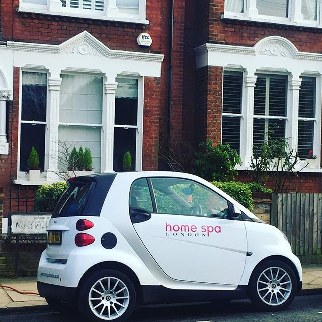 Home Spa London mobile. Perfect for parking neatly outside your house & treating you to a treatment of your choice 😀 Happy Saturday! #isitspringyet #mobilemassage #sportsmassage #london #pregnancymassage #postnatalmassage #babymassage #mums #mummylife