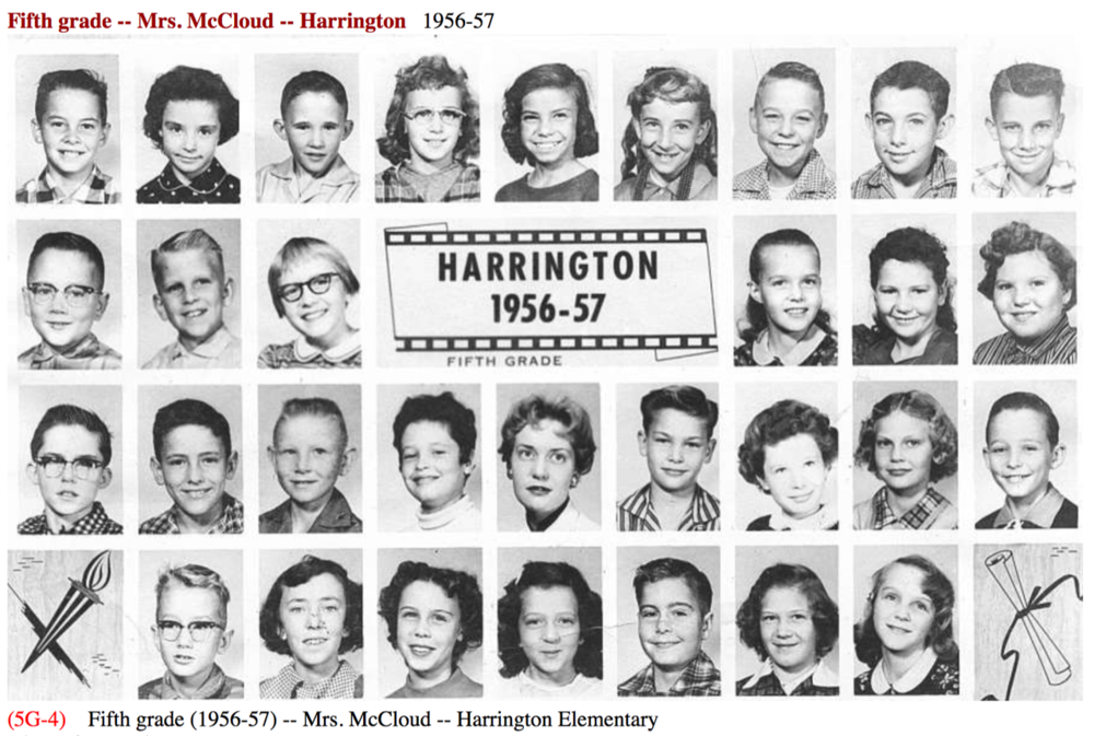 1956-1957 Mrs. McCloud - Grade 5