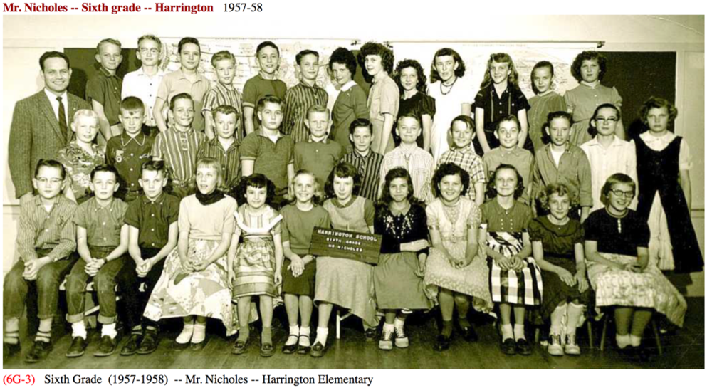 1957-1958 Mr. Nicholes - Grade 6
