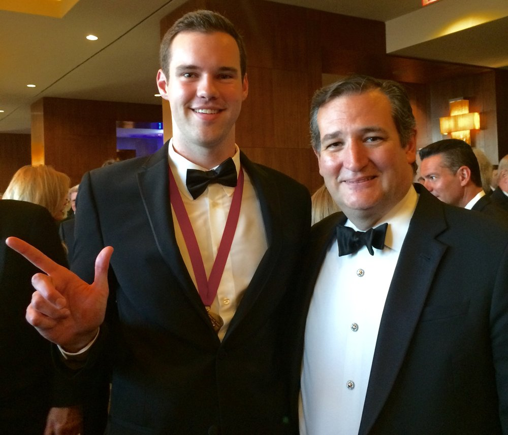 Kmetz with Sen. Ted Cruz