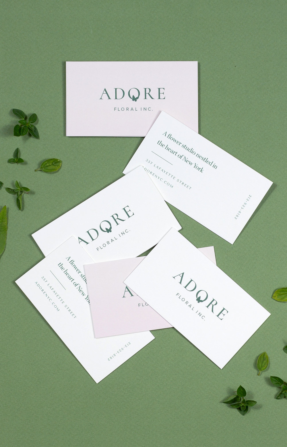 Adore Floral brand identity by Shoppe Theory. Photograph by Anna Wu.