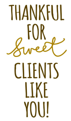 Thankful for Sweet Clients like you - 3rd Eye Tonic
