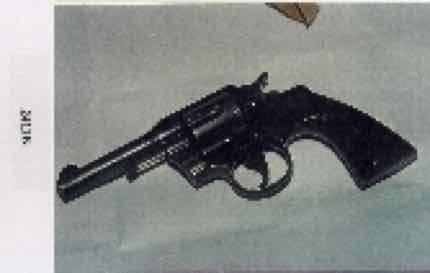 Official FBI photo of gun allegedly found at death scene.