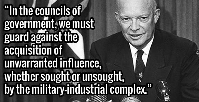 "Dwight ""Ike"" Eisenhower's farewell speech."