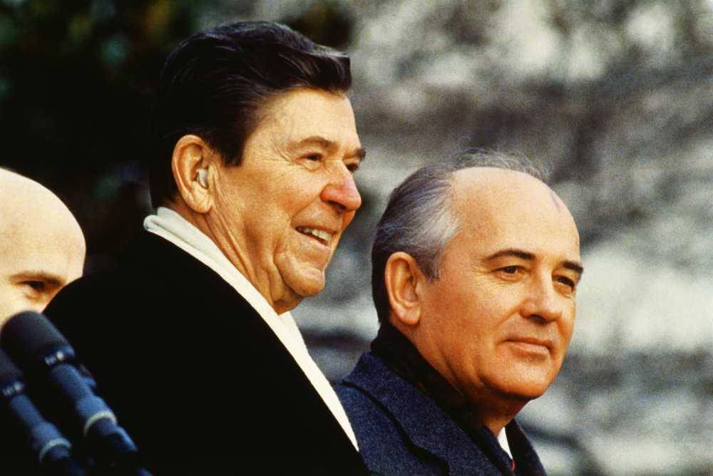 Reagan and Gorbachev in the final years of U.S. - Soviet bipolarity.
