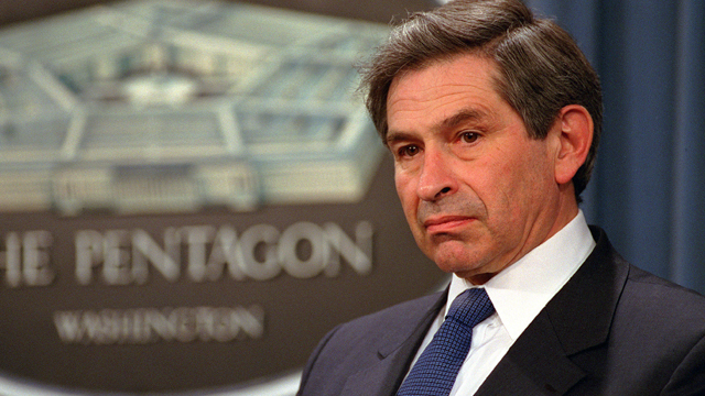 Assistant Secretary of Defense Paul Wolfowitz.