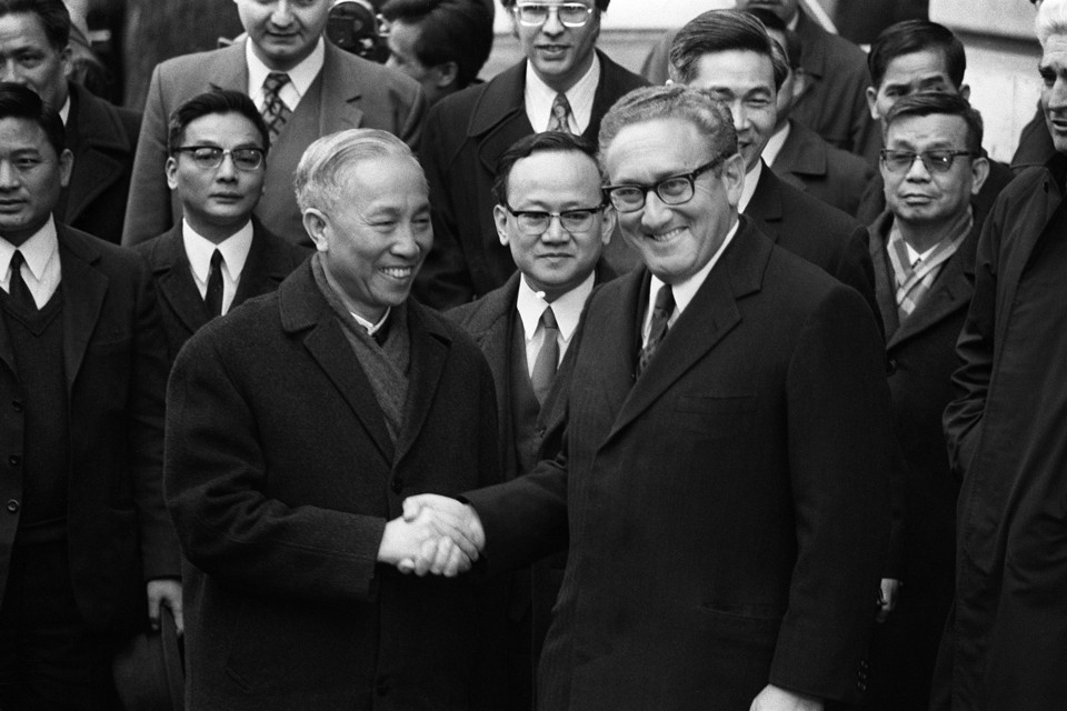 Secretary of State Henry Kissinger in China during the Nixon years.
