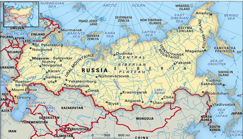 Russia is shrinking, not expanding, from it's footprint back in Soviet days.