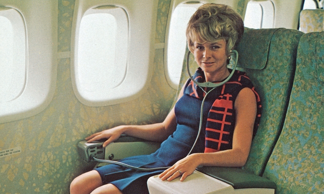 Boeing 747 in-flight entertainment headset from 1970