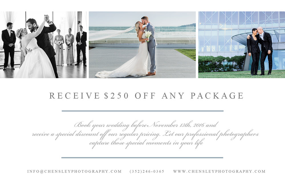 250 Off Wedding Packages Chensley Photography