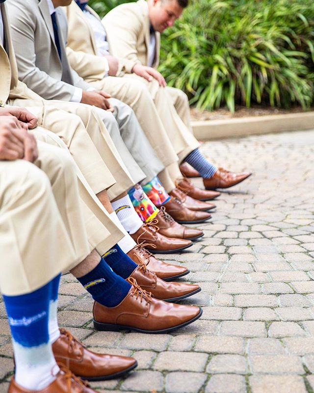#SockGameStrong for these awesome groomsmen💪🏾💪🏼 PC: @epicdann