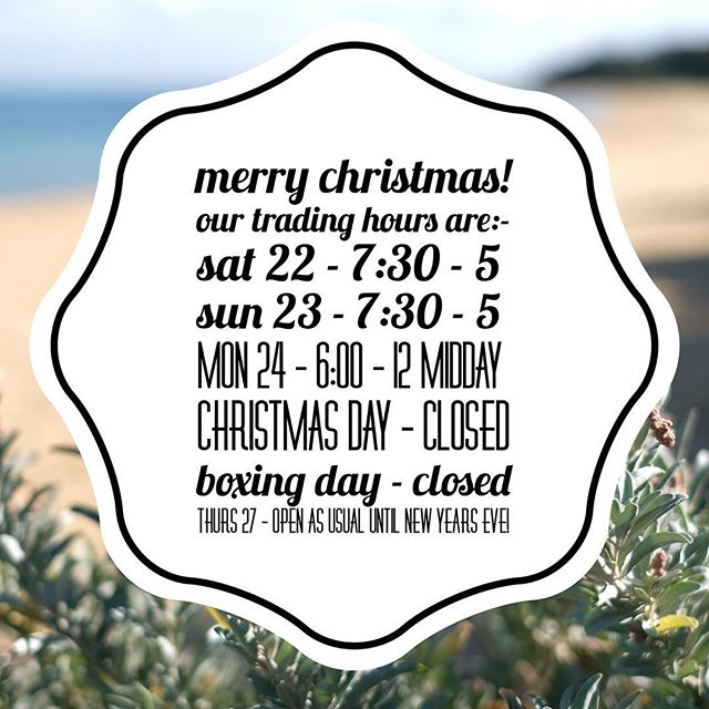 Can't believe it's 4 Sleeps till Christmas! 😬🤪🙃 Just a quick heads up on our trading hours over the weekend for those of you picking up orders or getting last minute preparations done... We are open as usual between Chrissy and New Years for all your BBQ essentials and then we'll take a short break for a week for some rest and relaxation! Thanks for all your support and Merry Christmas!